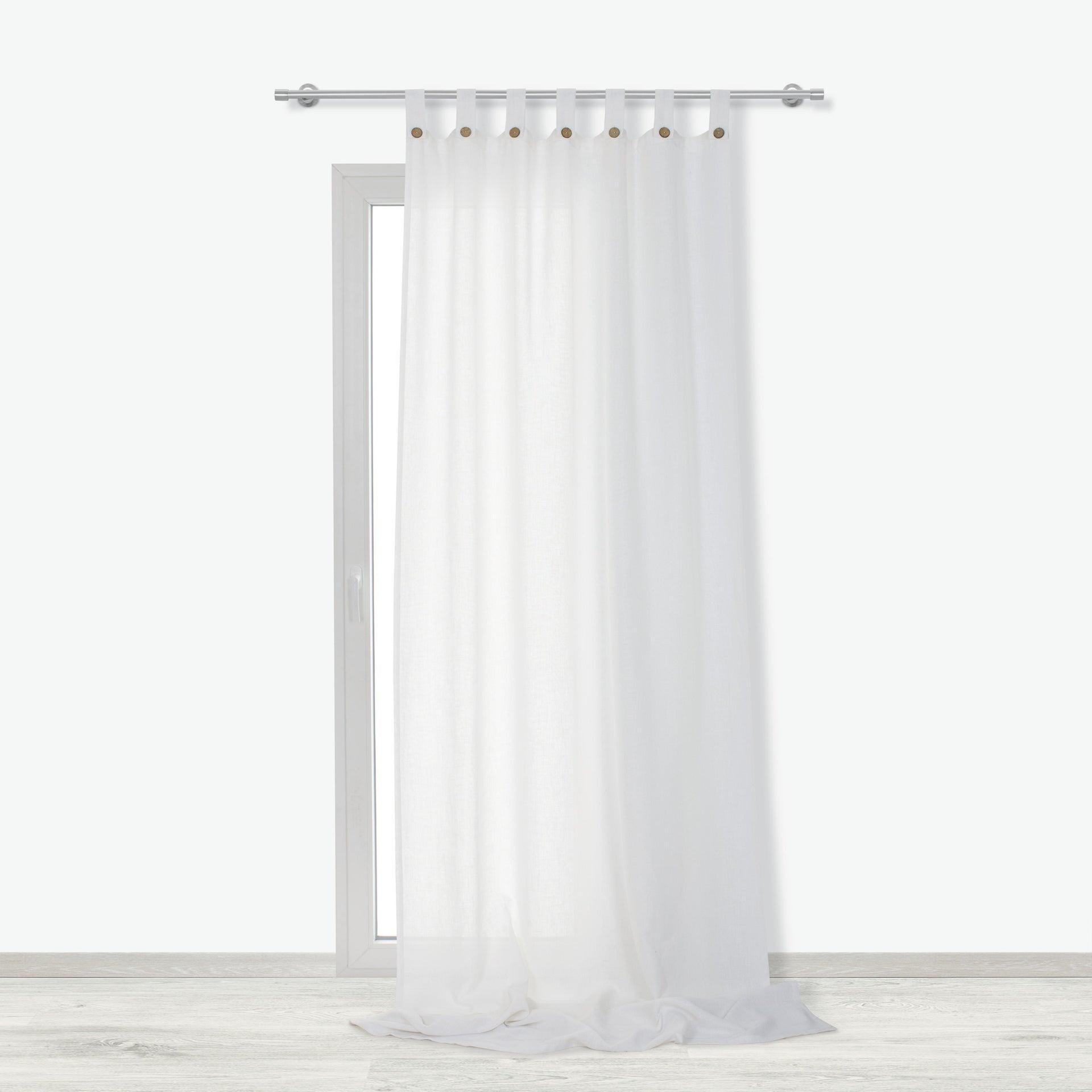 Tenda INSPIRE Charlina bianco passanti 140 x 280 cm - 4
