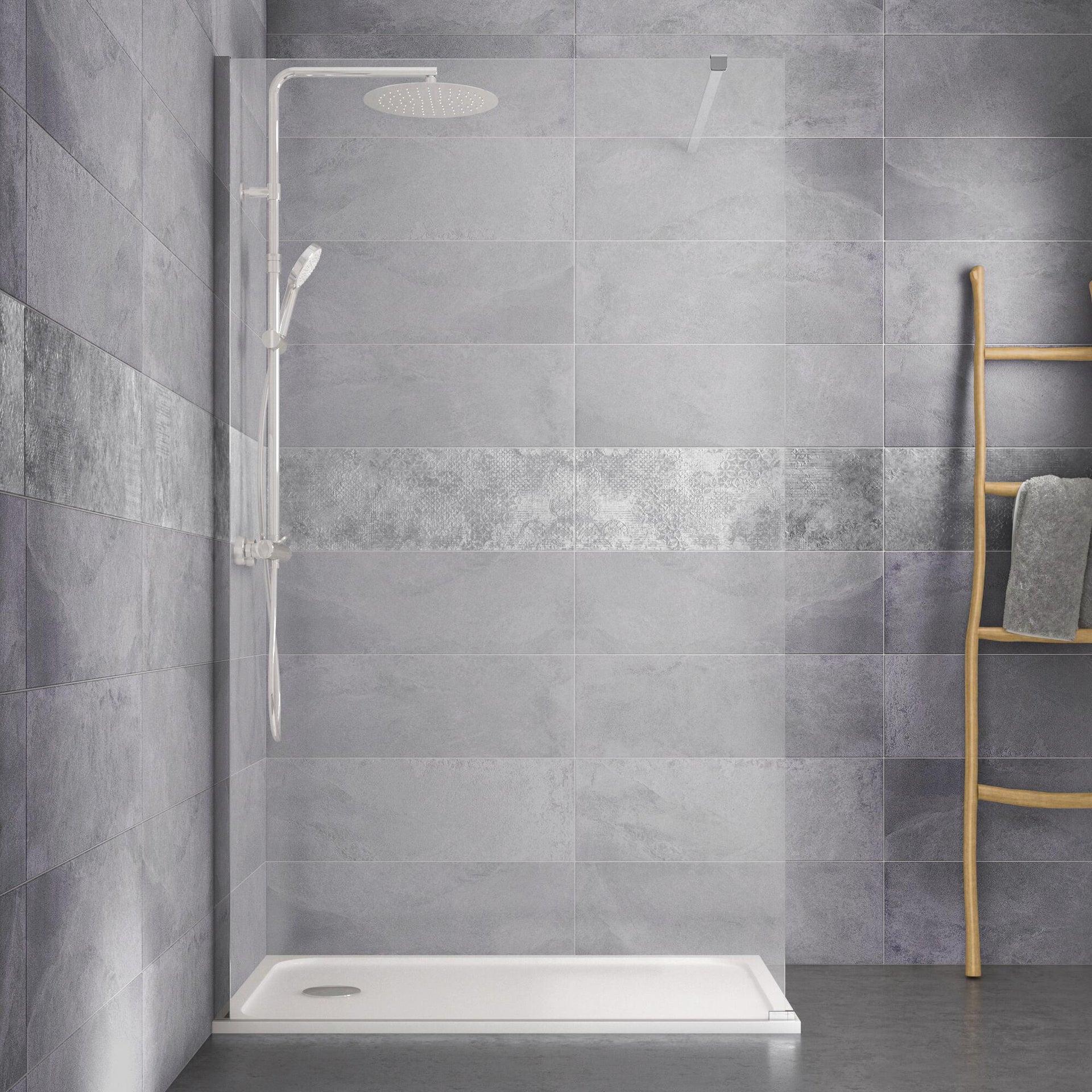 Piatto doccia resina sintetica e polvere di marmo Easy 80 x 120 cm bianco - 12