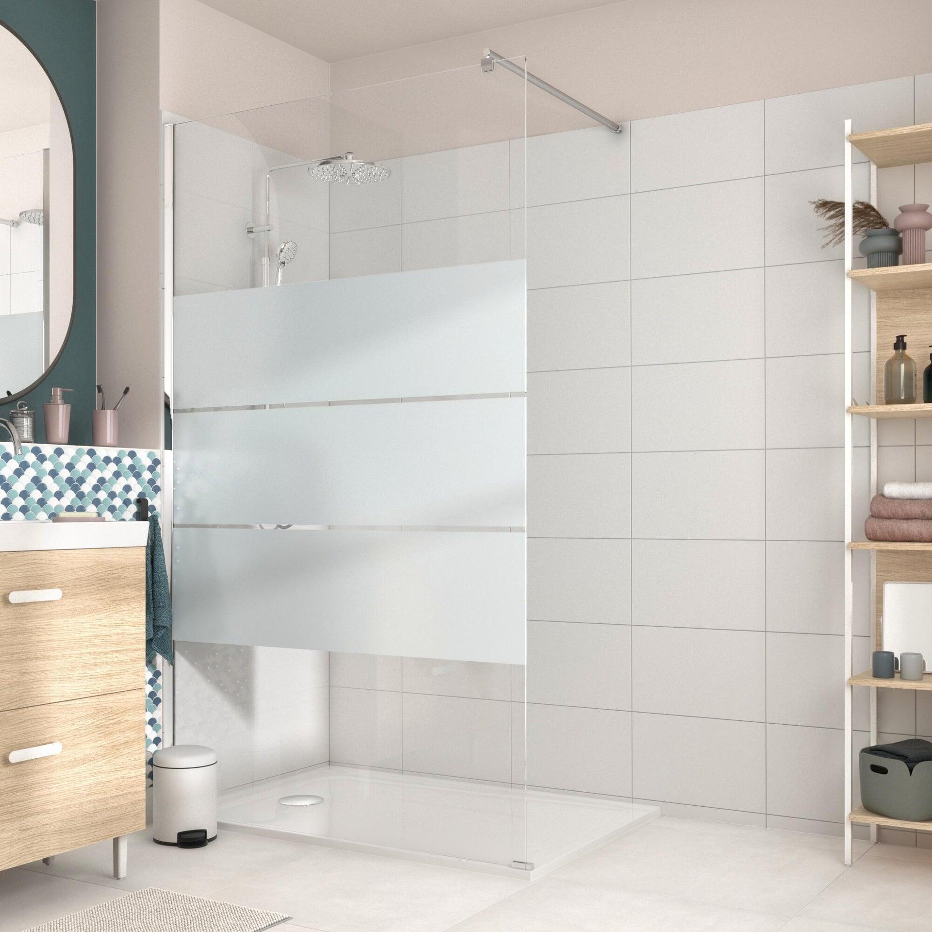 Piatto doccia resina sintetica e polvere di marmo Easy 80 x 120 cm bianco - 6