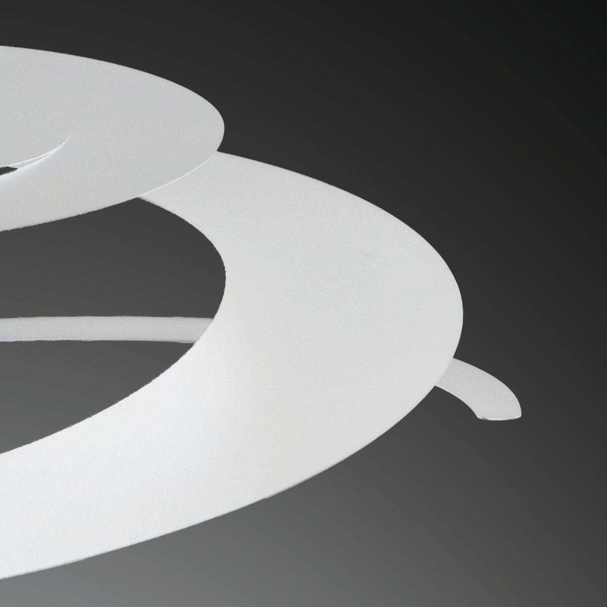 Lampadario Moderno Spirale bianco in metallo, L. 45 cm, NOVECENTO - 7