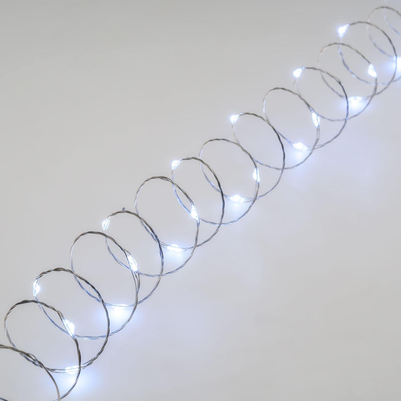 Catena luminosa 300 lampadine LED bianco freddo 22.5 m - 9