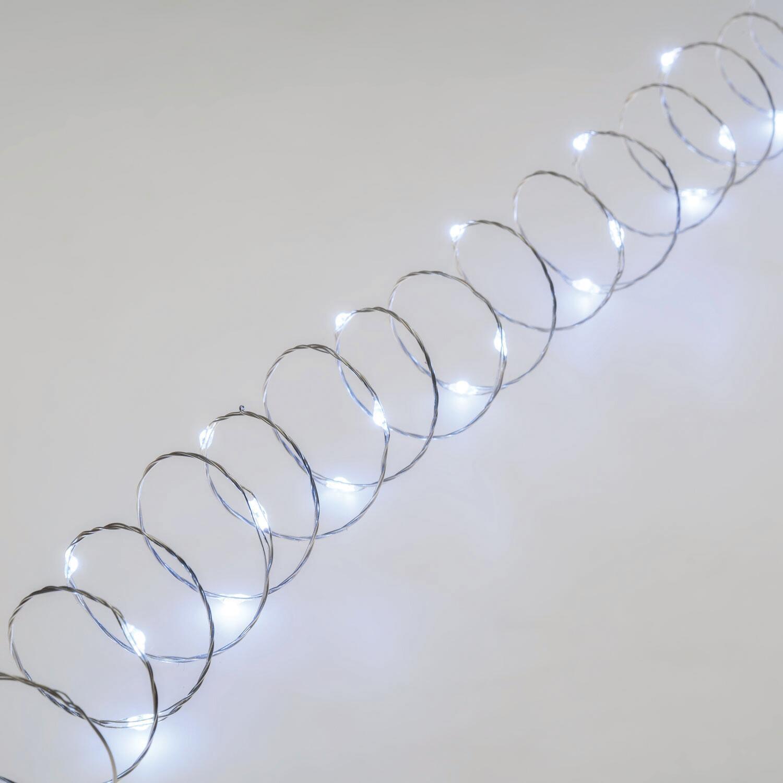 Catena luminosa 300 lampadine LED bianco freddo 22.5 m - 5
