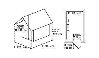 Casetta da giardino in polipropilene Lineus, superficie interna 0.98 m² e spessore parete 16 mm - 4