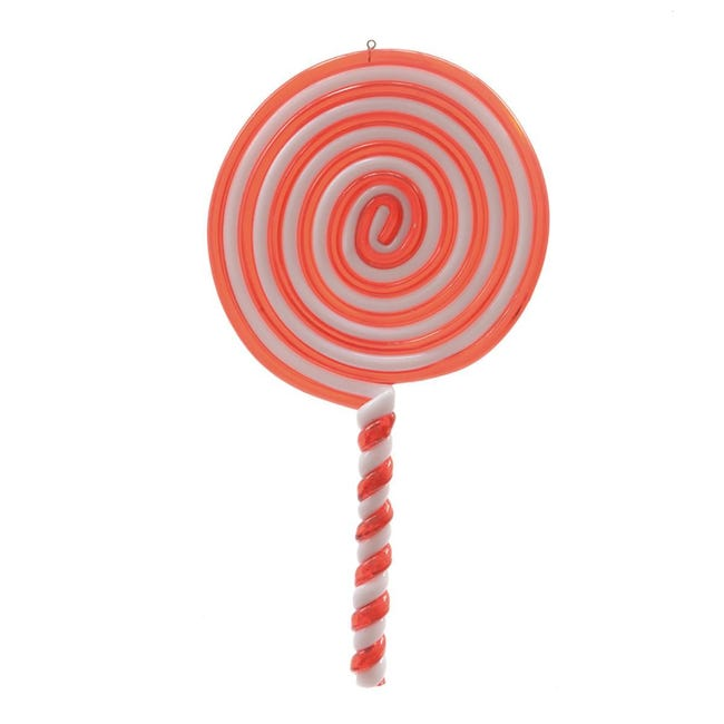 Decorazione per albero di natale Lecca lecca Candy in plastica rosso e bianco H 20 cm, L 10 cmx P 0.8 cm, - 1