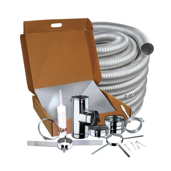 Kit tubo in inox 316l (elevata resistenza in condizioni climatiche estreme) L 80 cm x Ø 80 mm - 1