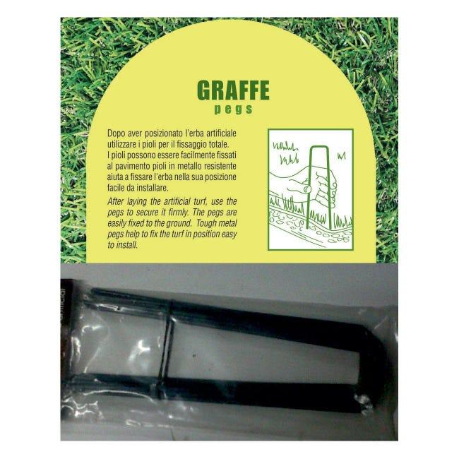 Graffe per prato sintetico L 0.175 m 10 pezzi - 1