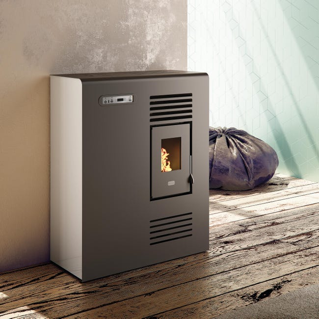 Stufa a pellet ventilata Tina 4 kW avorio - 1