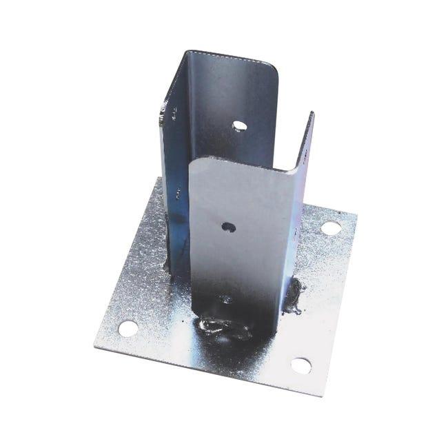 Supporto per palo in acciaio L 12.5x H 13 - 1