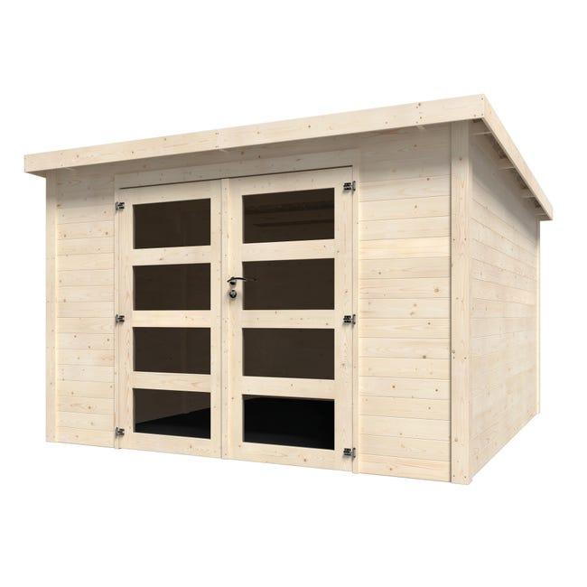 Casetta da giardino in legno Oleandro, superficie interna 8.65 m² e spessore parete 28 mm - 1