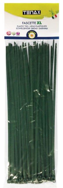 Fascetta a collare verde in pvc 29 cm x 0,48 cm 50 pezzi - 1