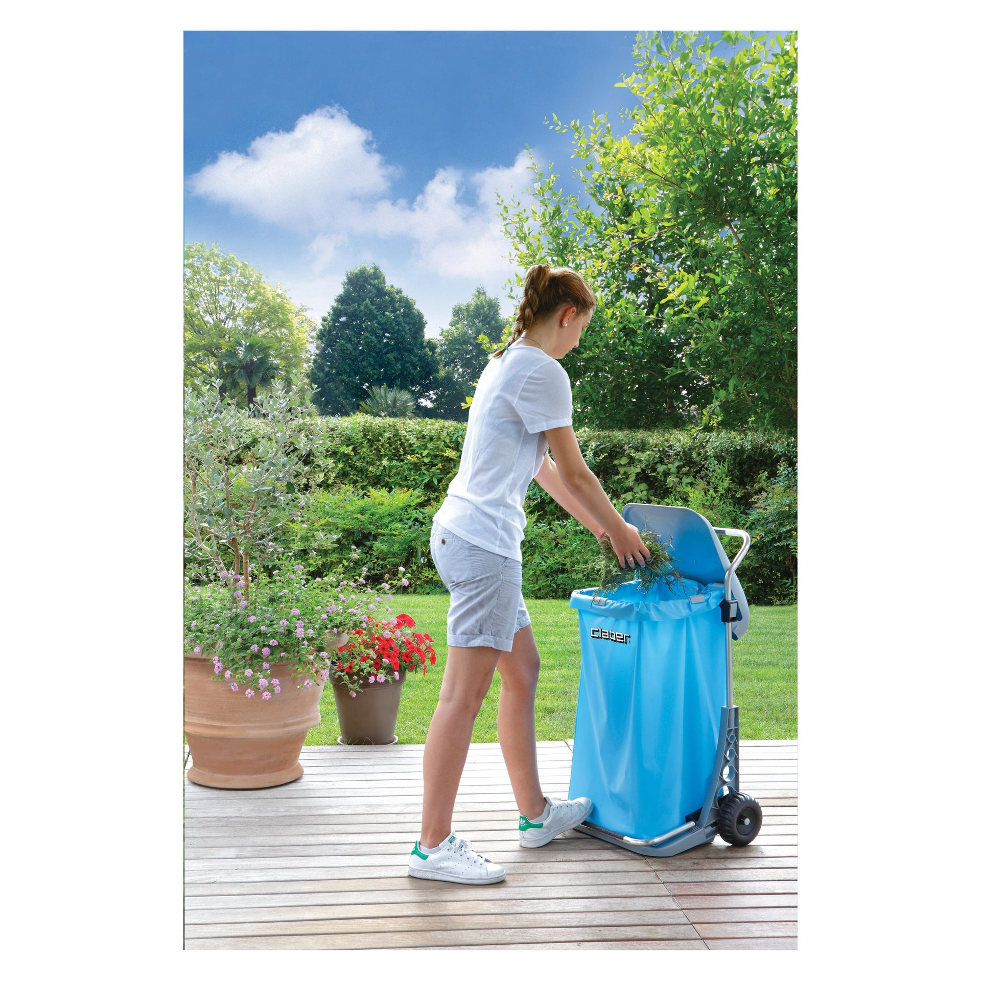 Pattumiera in polipropilene CLABER Carry Cart Comfort 70 L, 2 ruote - 2