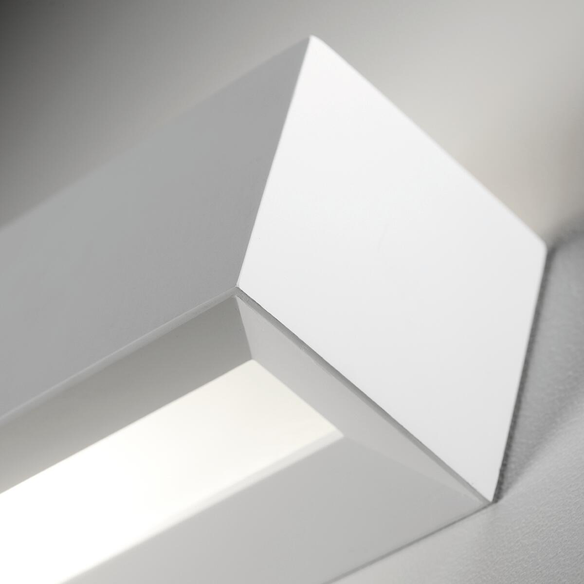 Applique design Hermione bianco, in gesso, 7x35 cm, 2 luci TECNICO - 3