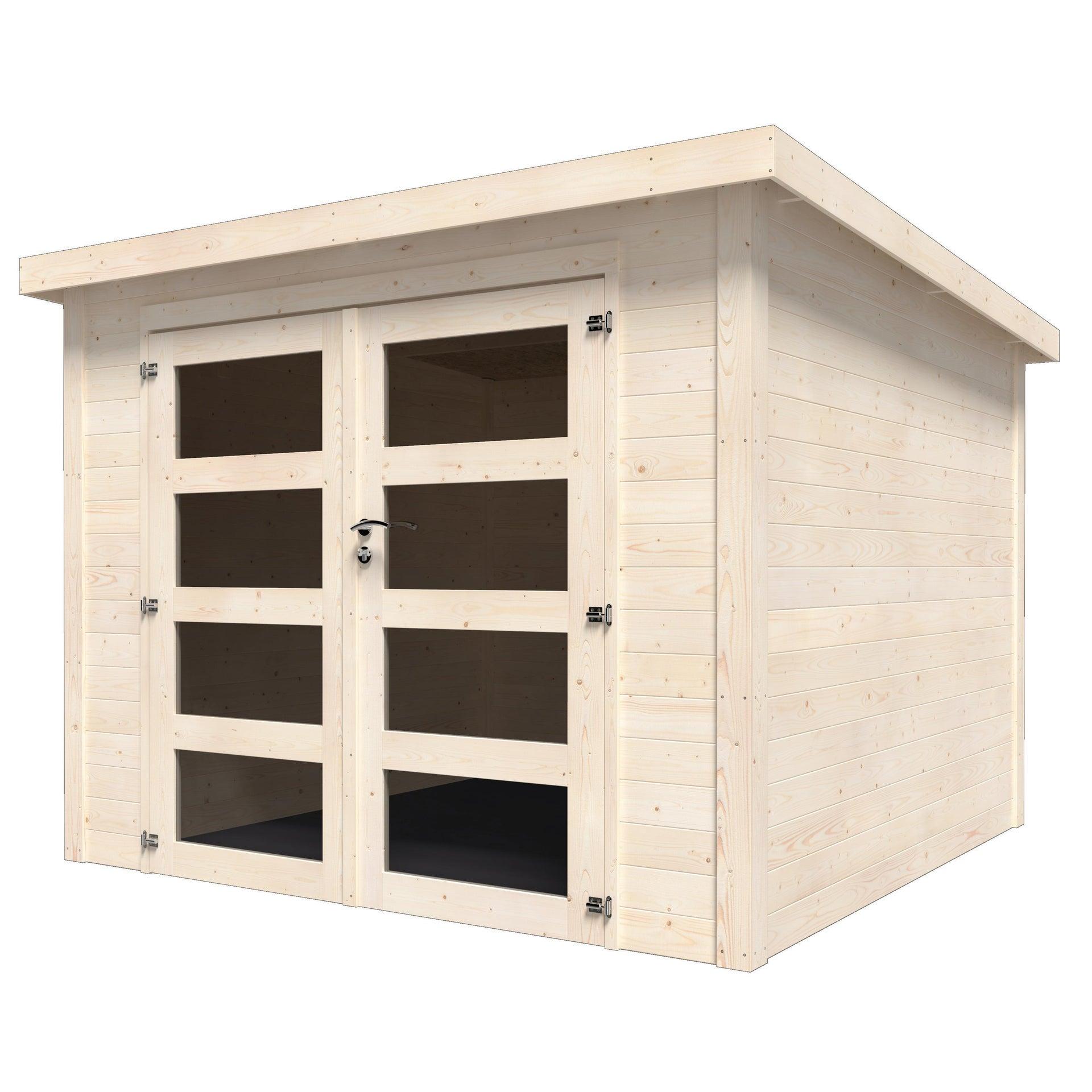 Casetta da giardino in legno Viola, superficie interna 5.96 m² e spessore parete 28 mm - 3