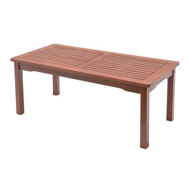 Tavolino da giardino rettangolare Kerving con piano in legno L 50 x P 100 cm - 1