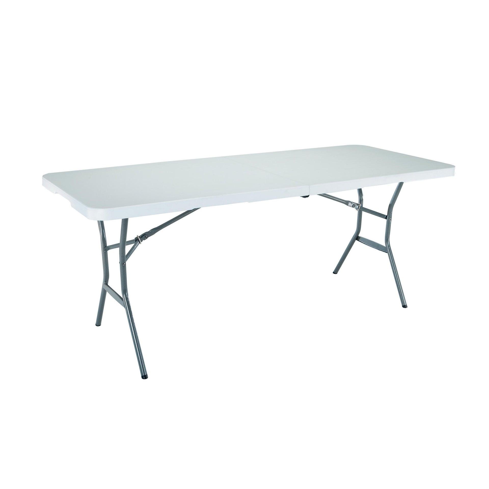 Tavolo da pranzo per giardino rettangolare Lifetime con piano in plastica L 76 x P 183 cm - 1