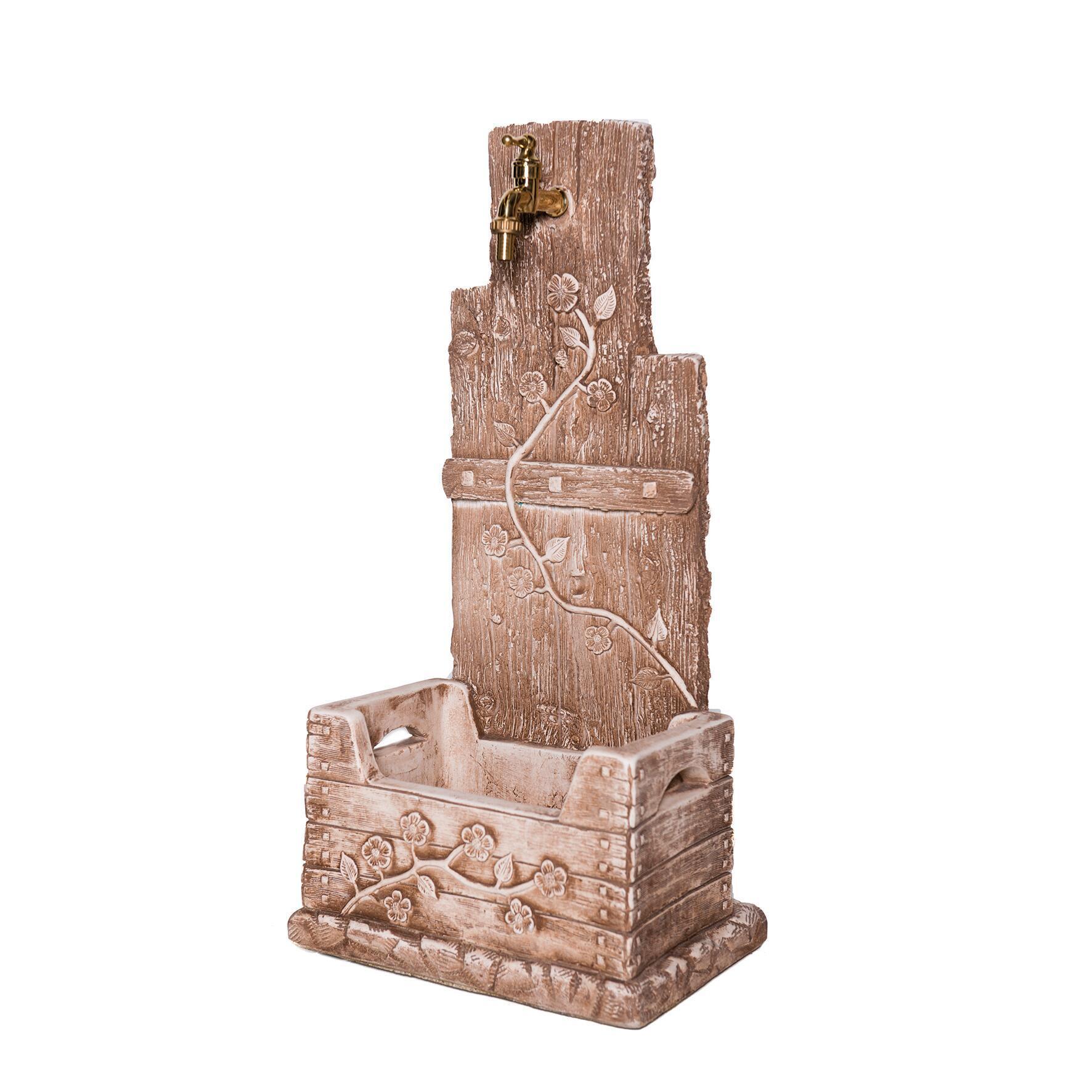 Fontana a colonna Quadrifoglio in calcestruzzo H 81 cm, 39 x 29 cm - 2