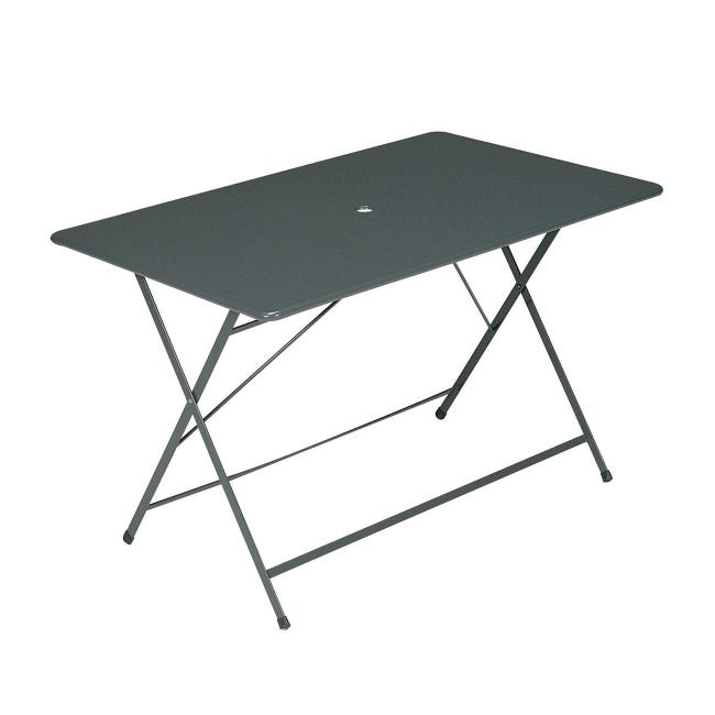 Tavolo da pranzo per giardino rettangolare Cassis con piano in acciaio L 76 x P 120 cm - 1