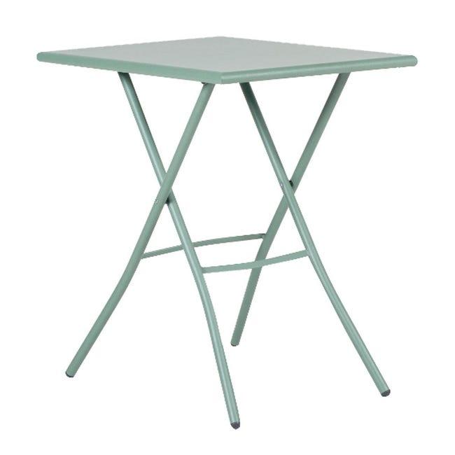 Tavolo da pranzo per giardino rettangolare Gaia con piano in acciaio L 70 x P 50 cm - 1