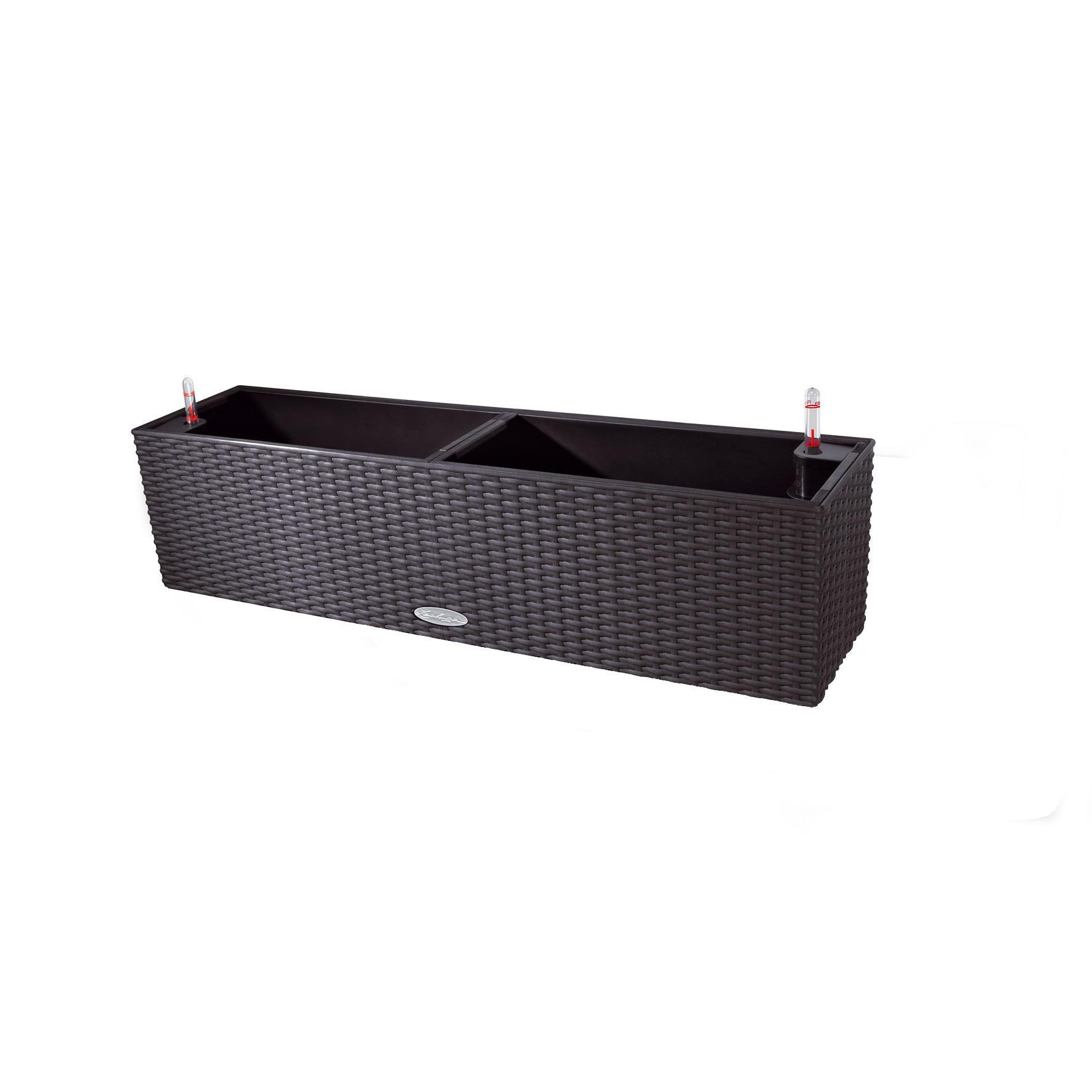 Cassetta portafiori Cottage in plastica colore grigio H 19 x L 19 x P 80 cm - 4