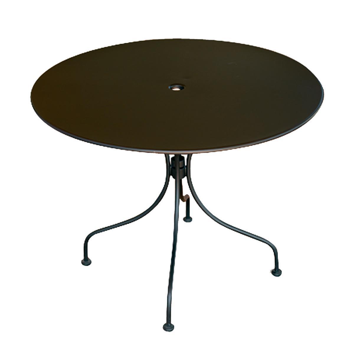 Tavolo da giardino tondo tft con piano in ferro Ø 90 cm - 1