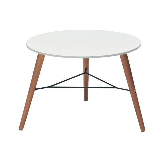 Tavolino da giardino rotondo Chamonix con piano in composito Ø 60 cm - 1