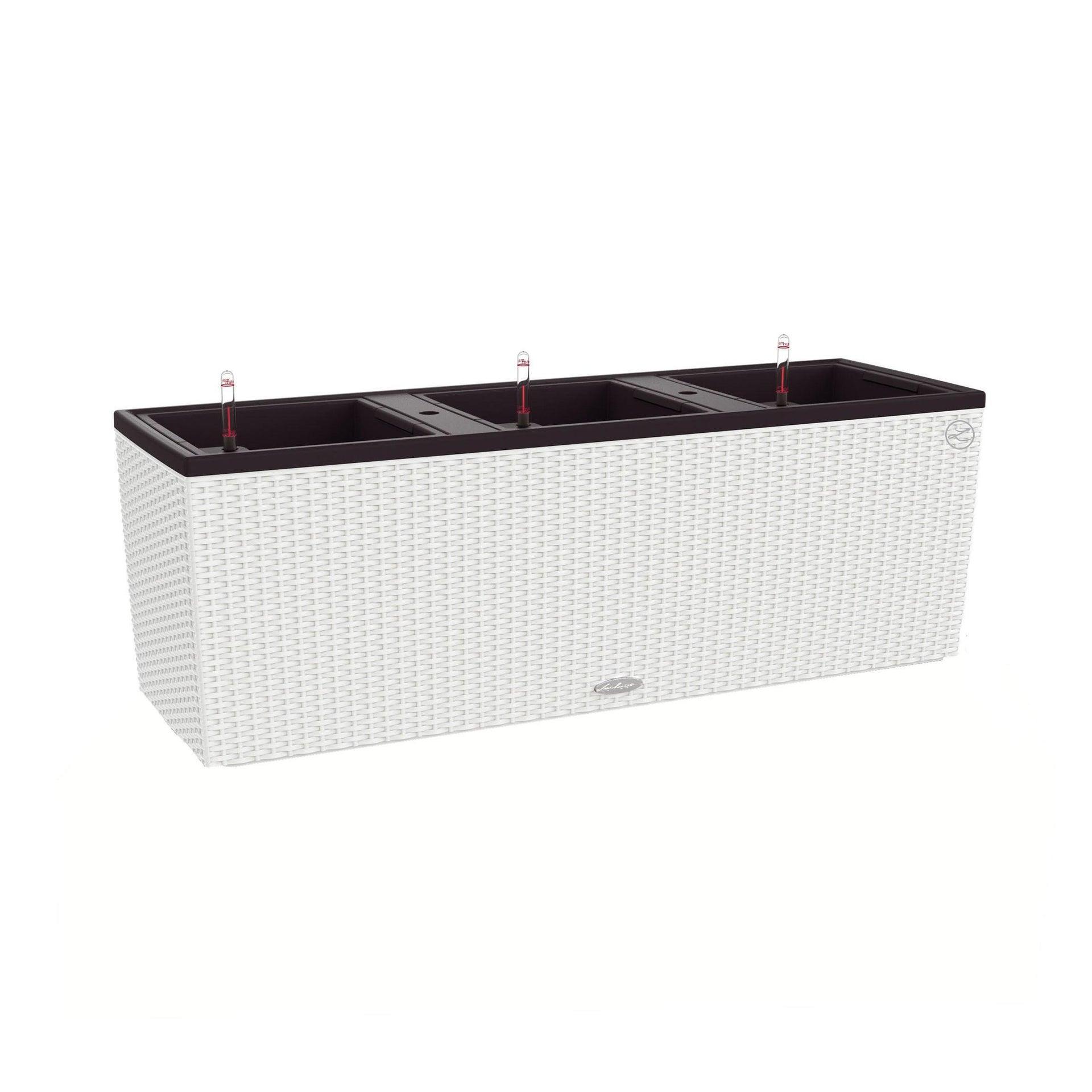 Fioriera Trio Cottage in plastica colore bianco H 34 x L 102 x P 100 cm - 4