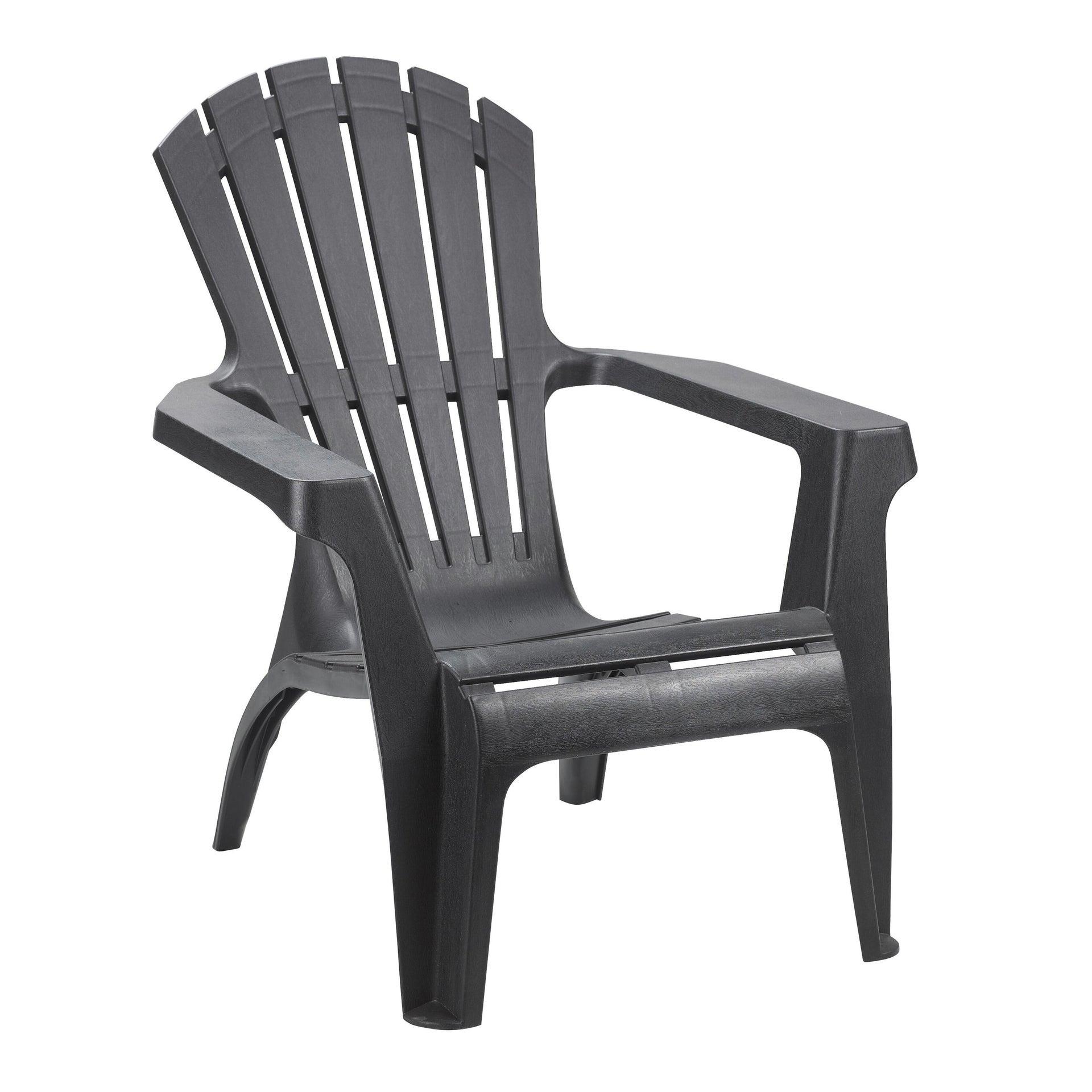 Sedia con braccioli senza cuscino in resina iniettata Dolomiti TELEHIT GARDEN colore antracite - 1