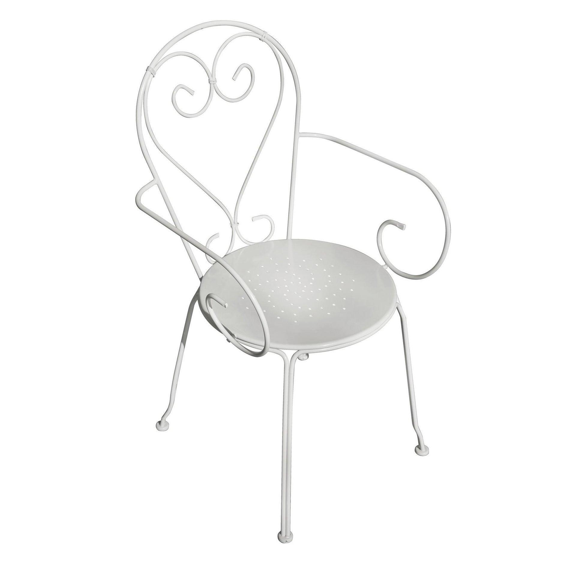 Sedia con braccioli senza cuscino Sirmione colore bianco - 3