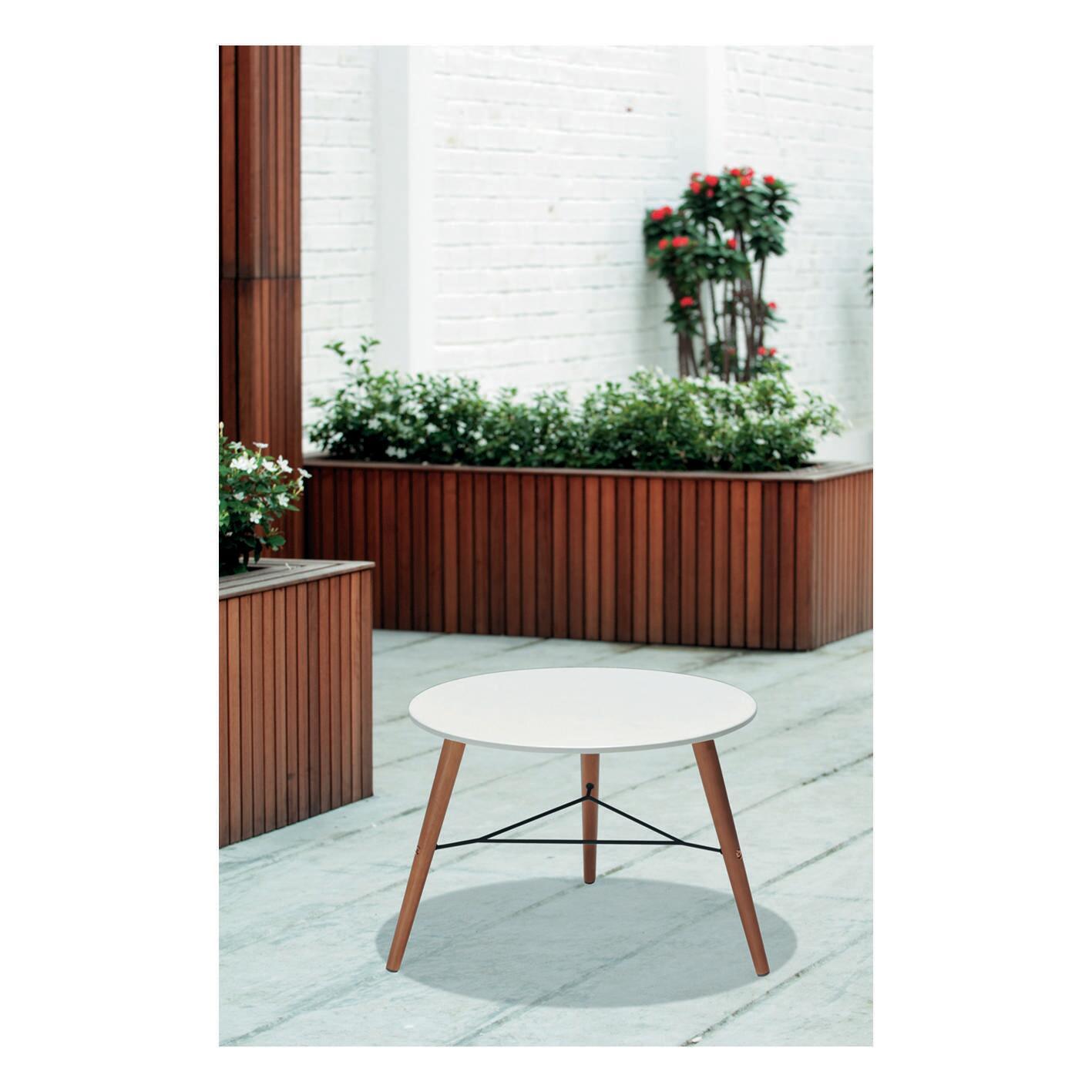 Tavolino da giardino rotondo Chamonix con piano in composito Ø 60 cm - 6