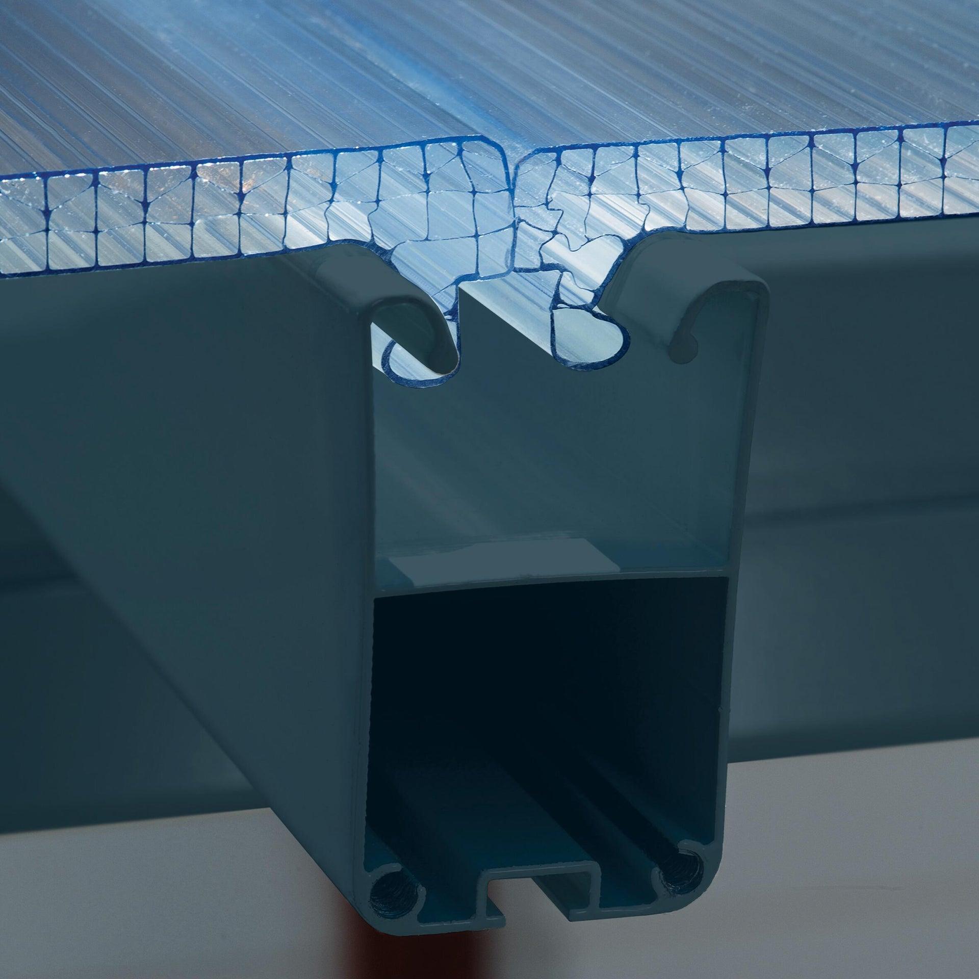 Pergola alluminio Emilia trasparente L 305 cm x P 300 cm, H 3 m - 3