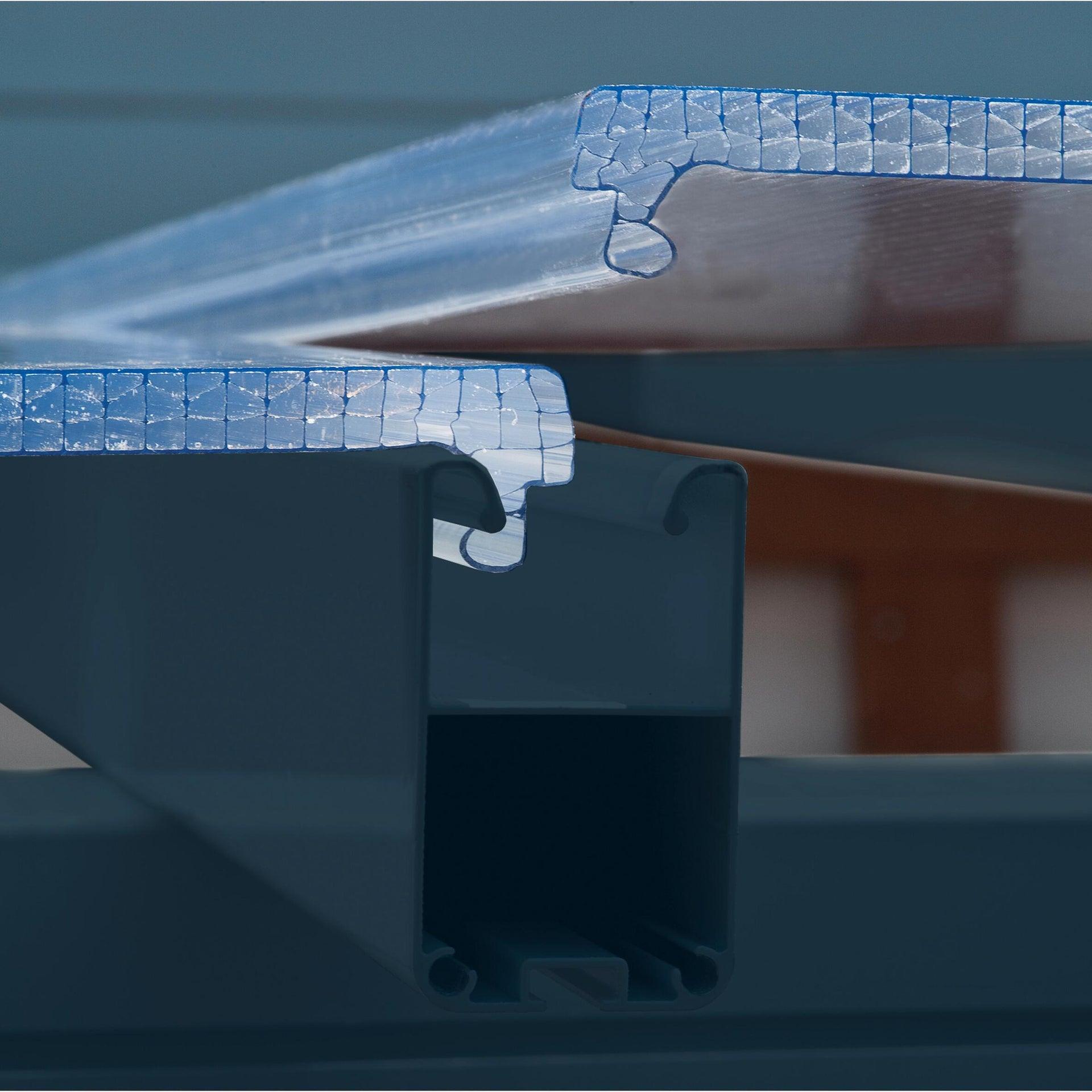 Pergola alluminio Emilia trasparente L 305 cm x P 300 cm, H 3 m - 6