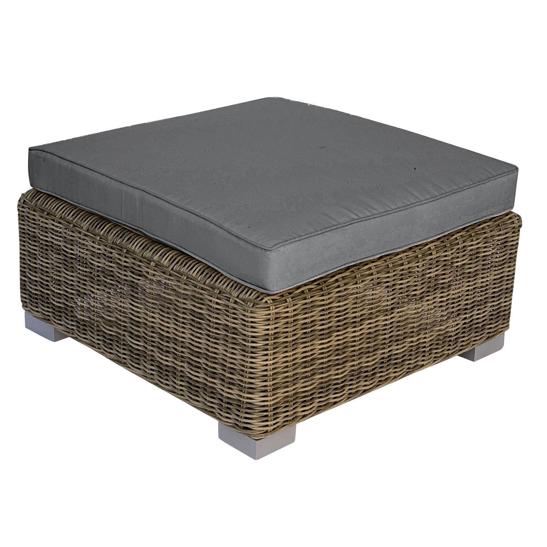 Tavolino da giardino quadrato Antigua con piano in rattan sintetico L 76 x P 76 cm - 1
