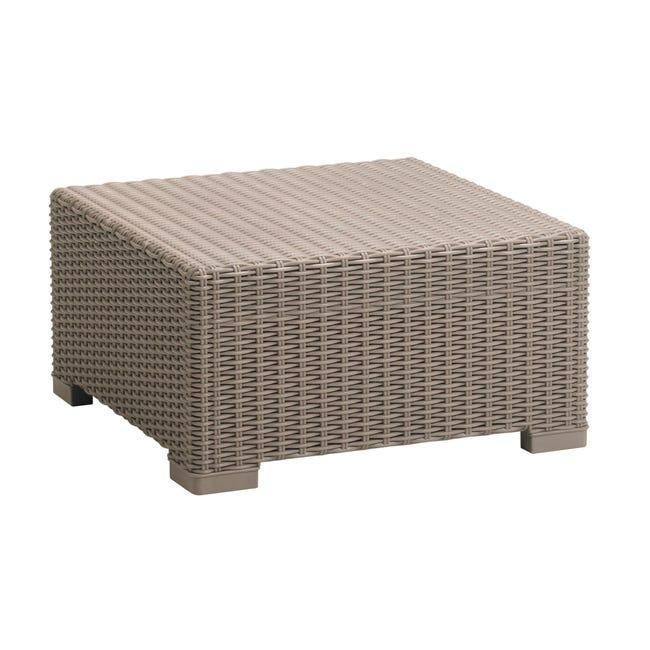 Tavolino da giardino quadrata California KETER con piano in resina L 68 x P 68 cm - 1