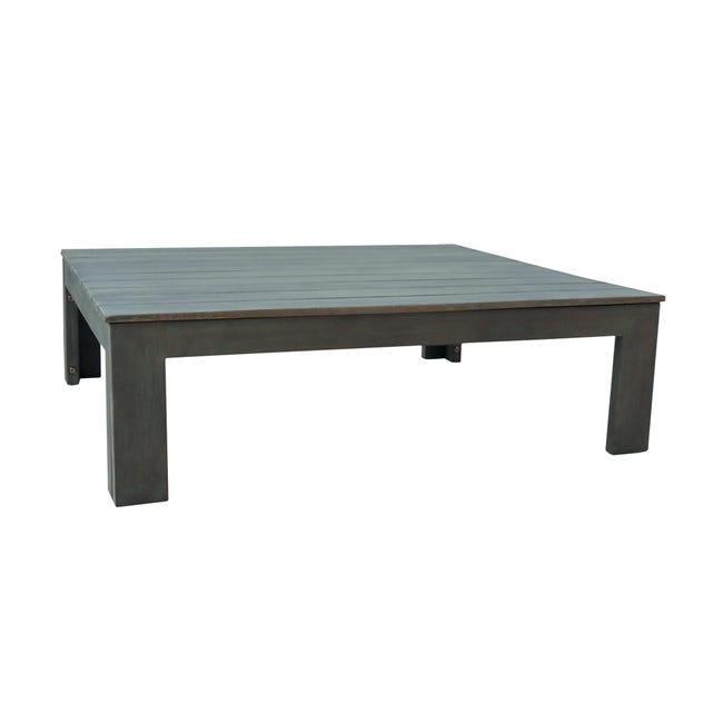 Tavolino da giardino rettangolare Maui con piano in acacia L 75 x P 85 cm - 1