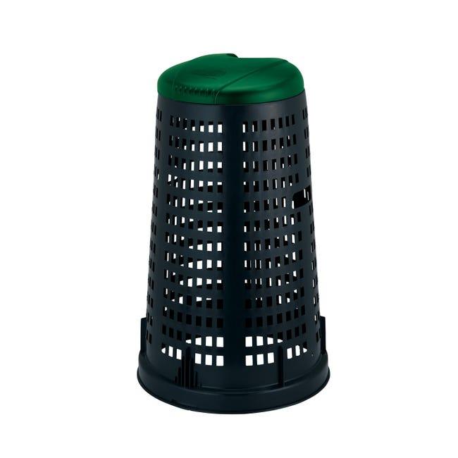 Trespolo in plastica STEFANPLAST con coperchio 100 L, - 1