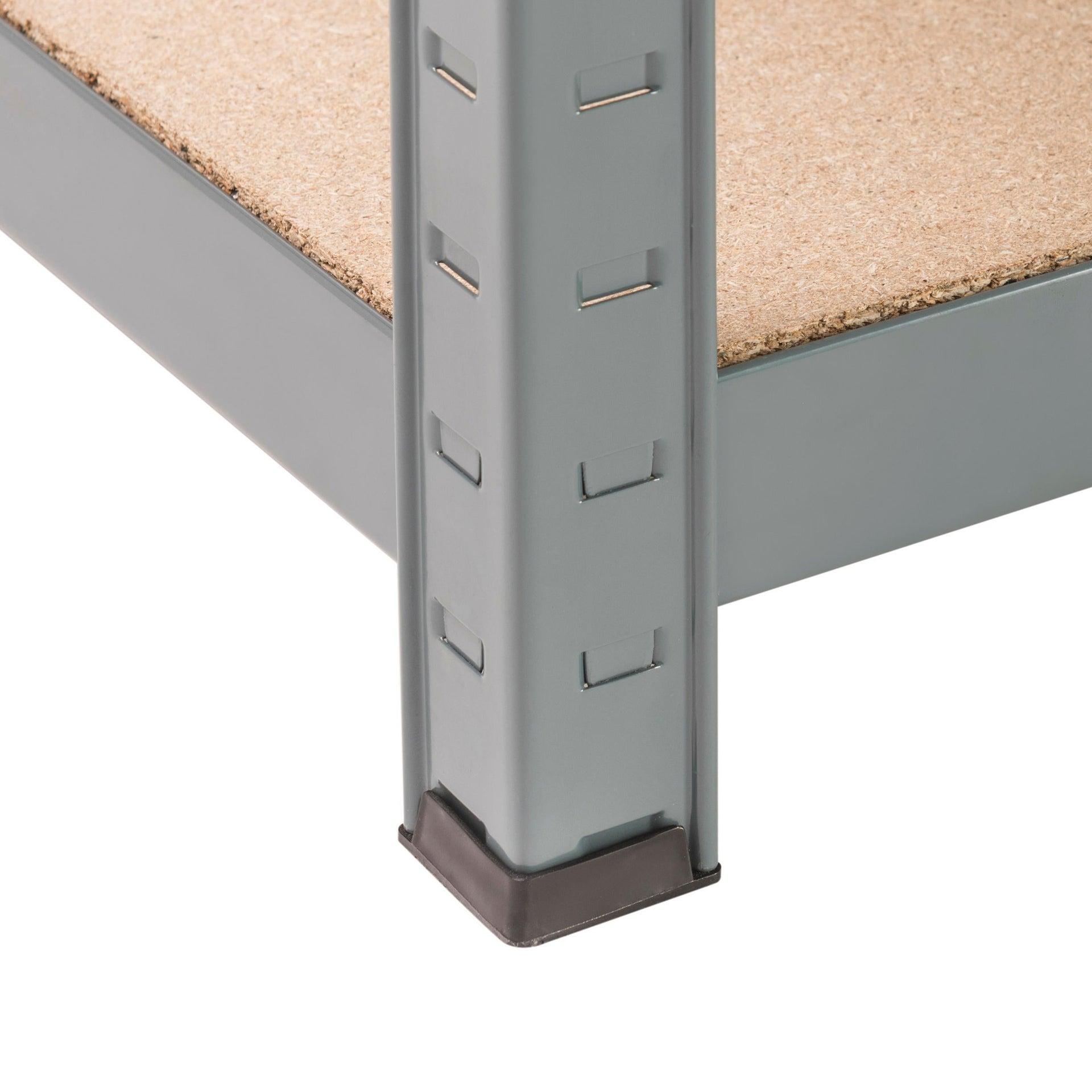 Scaffale in metallo in kit Spaceo L 100 x P 50 x H 196 cm grigio antracite - 3