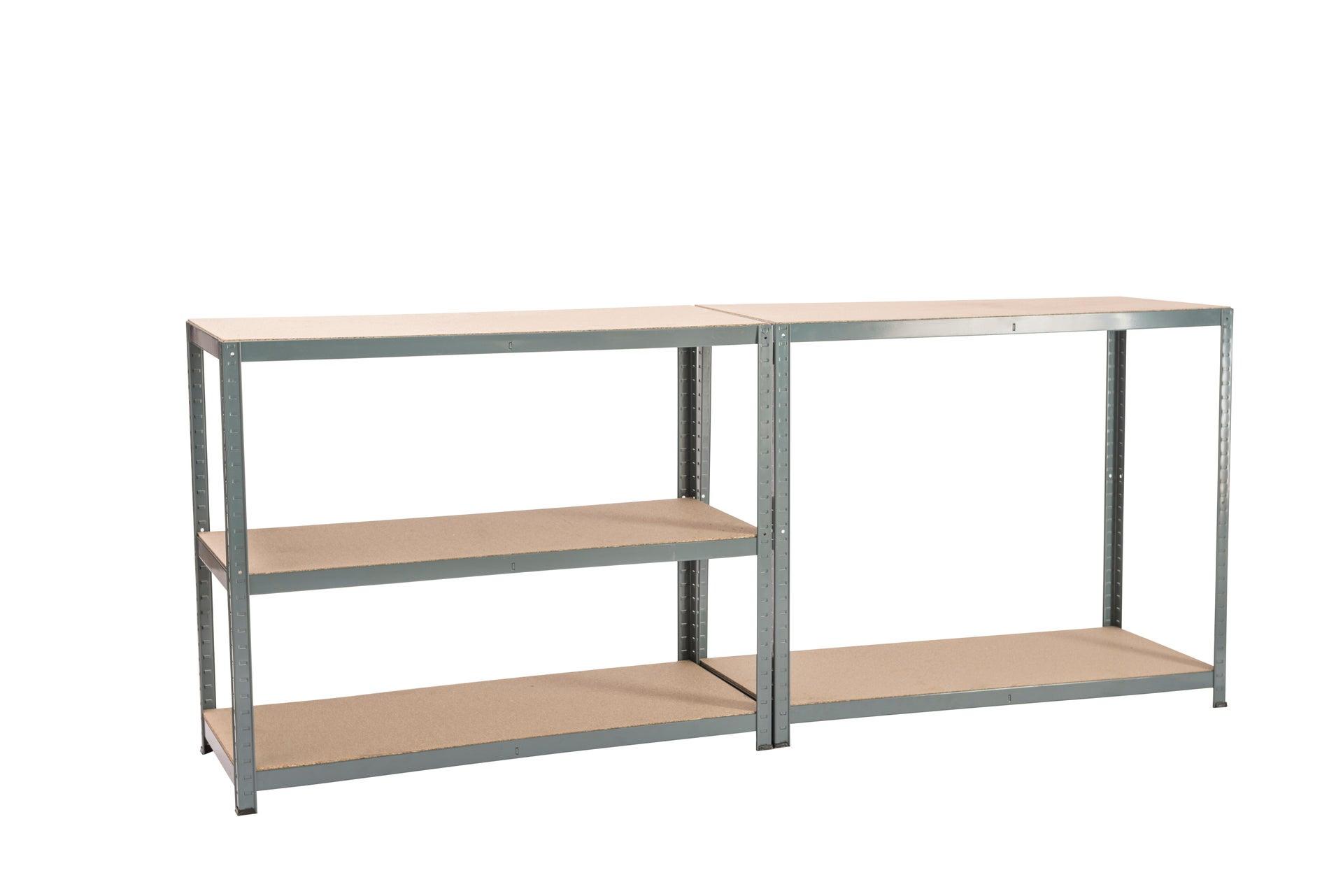 Scaffale in metallo in kit Spaceo L 120 x P 50 x H 196 cm grigio antracite - 15