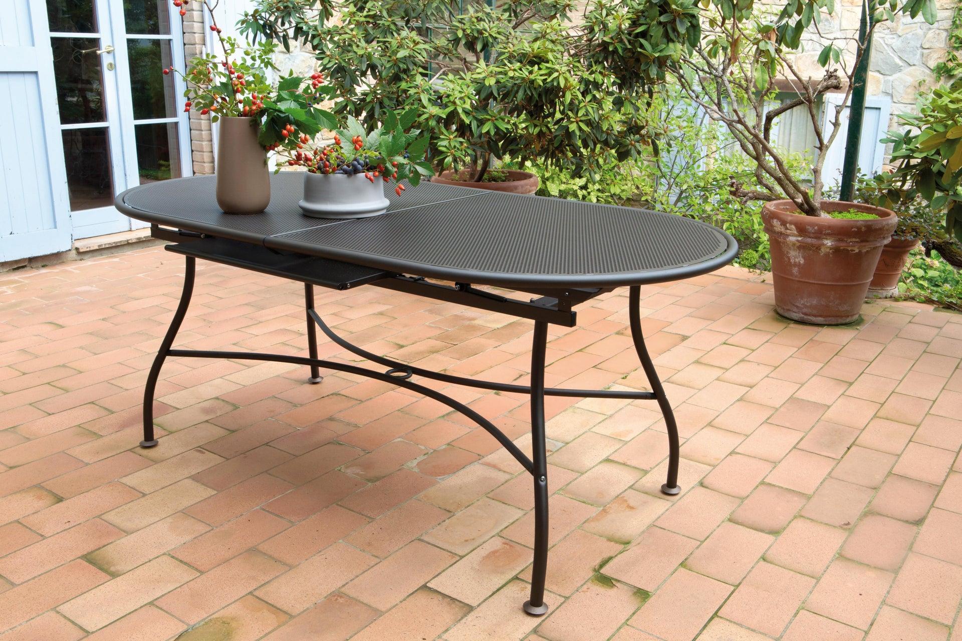 Tavolo da giardino allungabile ovale Evo con piano in alluminio L 180/240 x P 90 cm - 5
