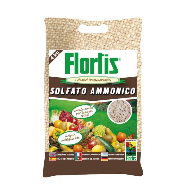 Concime granulare FLORTIS Solfato ammonico 4 Kg - 1