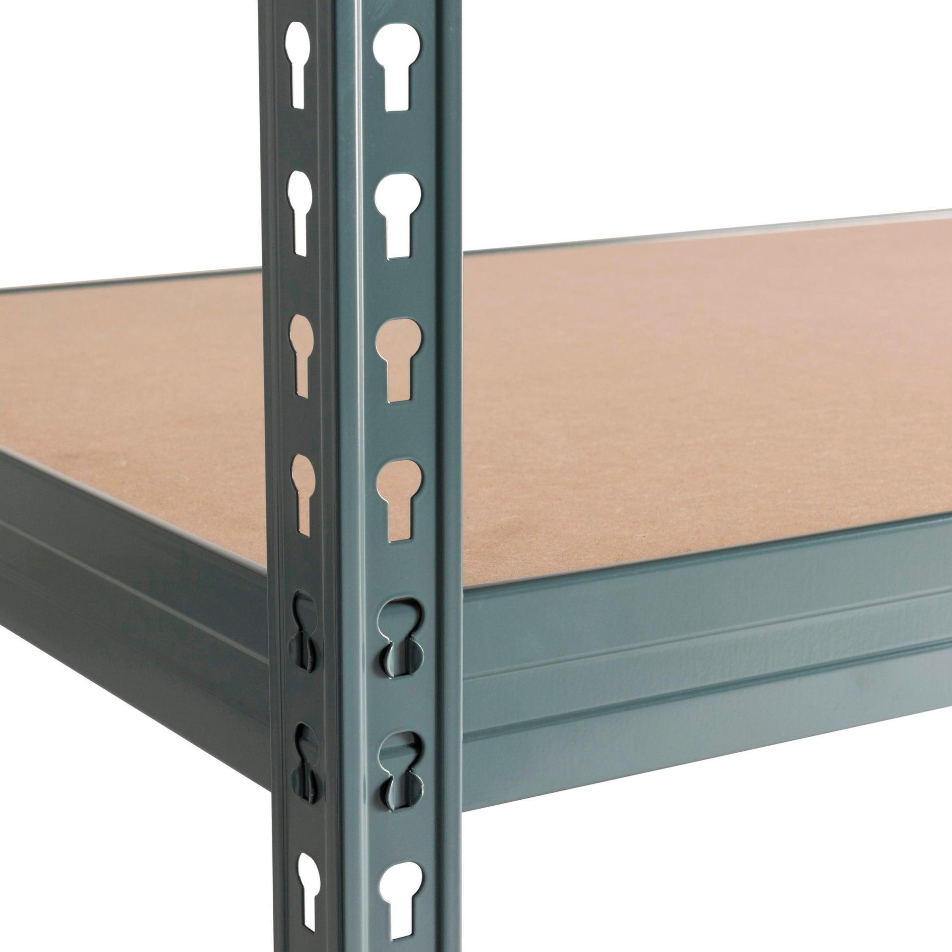 Scaffale in metallo in kit Spaceo L 150 x P 60 x H 190 cm grigio antracite - 11