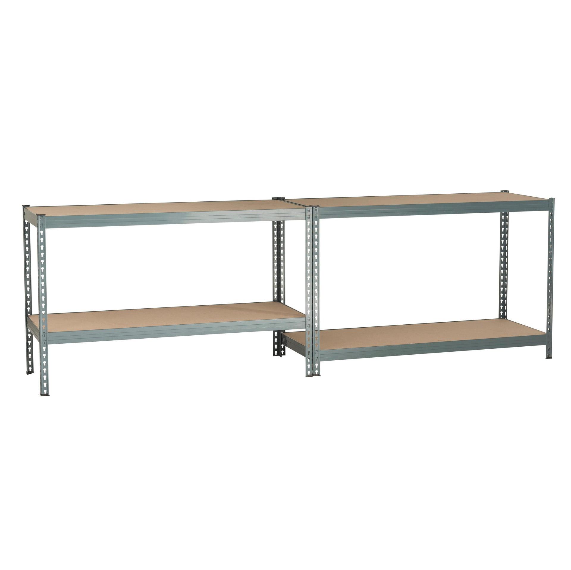 Scaffale in metallo in kit Spaceo L 150 x P 60 x H 190 cm grigio antracite - 9