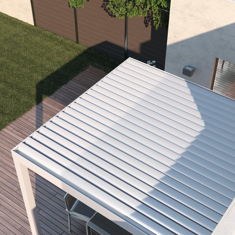 Pergola alluminio Addossata Spell bianco L 300 cm x P 296 cm, H 2.42 m - 4