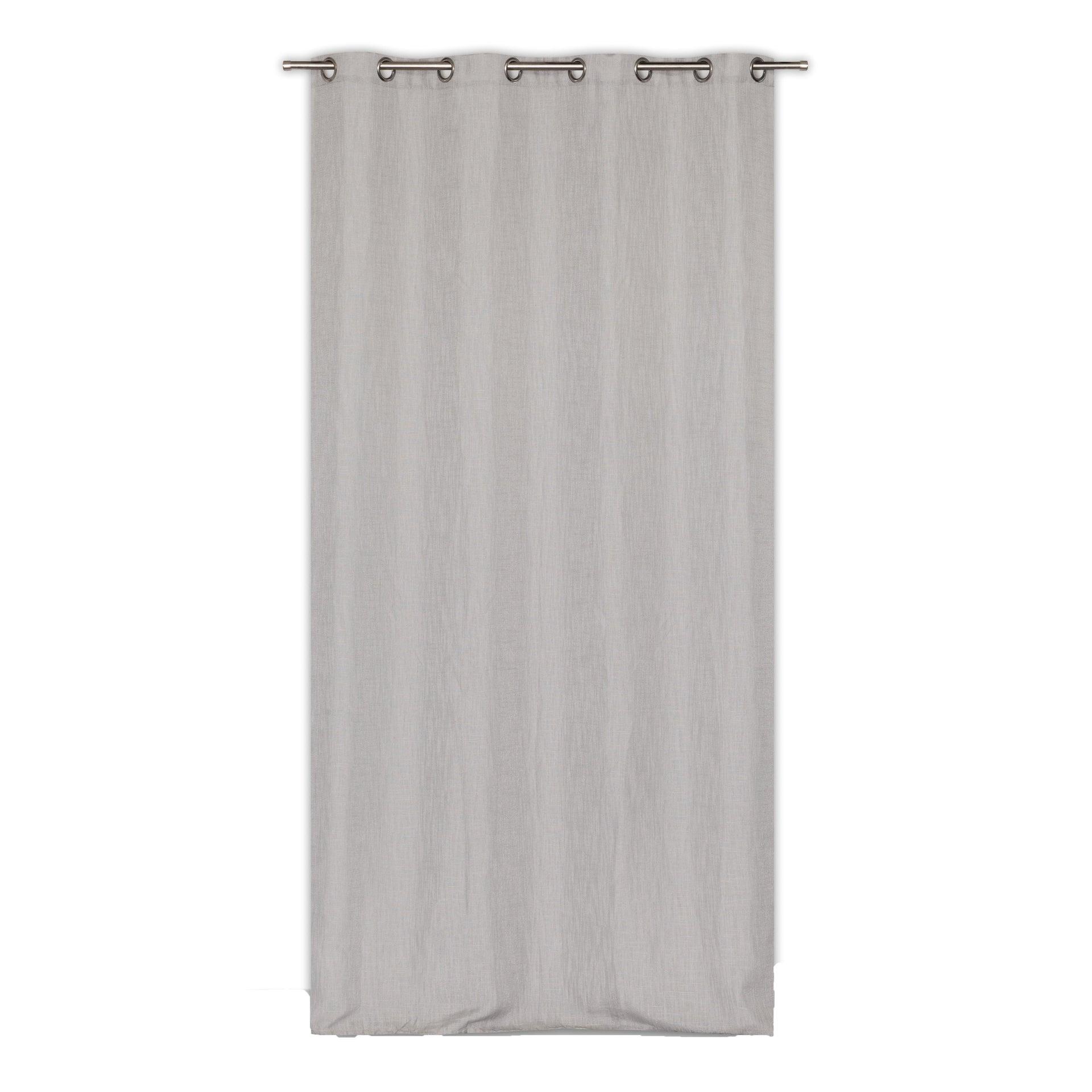 Tenda Infini grigio occhielli 140 x 280 cm - 3