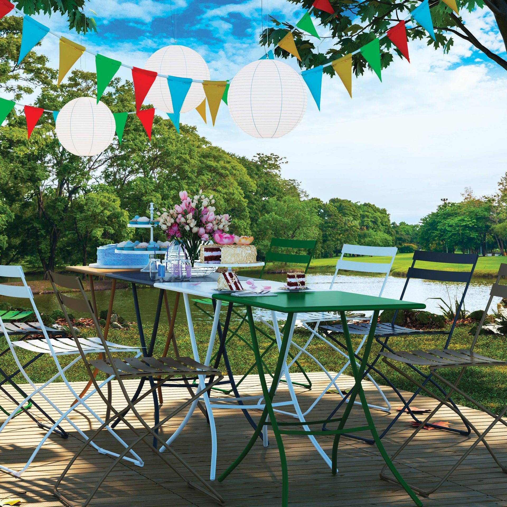 Tavolo da pranzo per giardino rettangolare Gaia con piano in acciaio L 70 x P 50 cm - 2