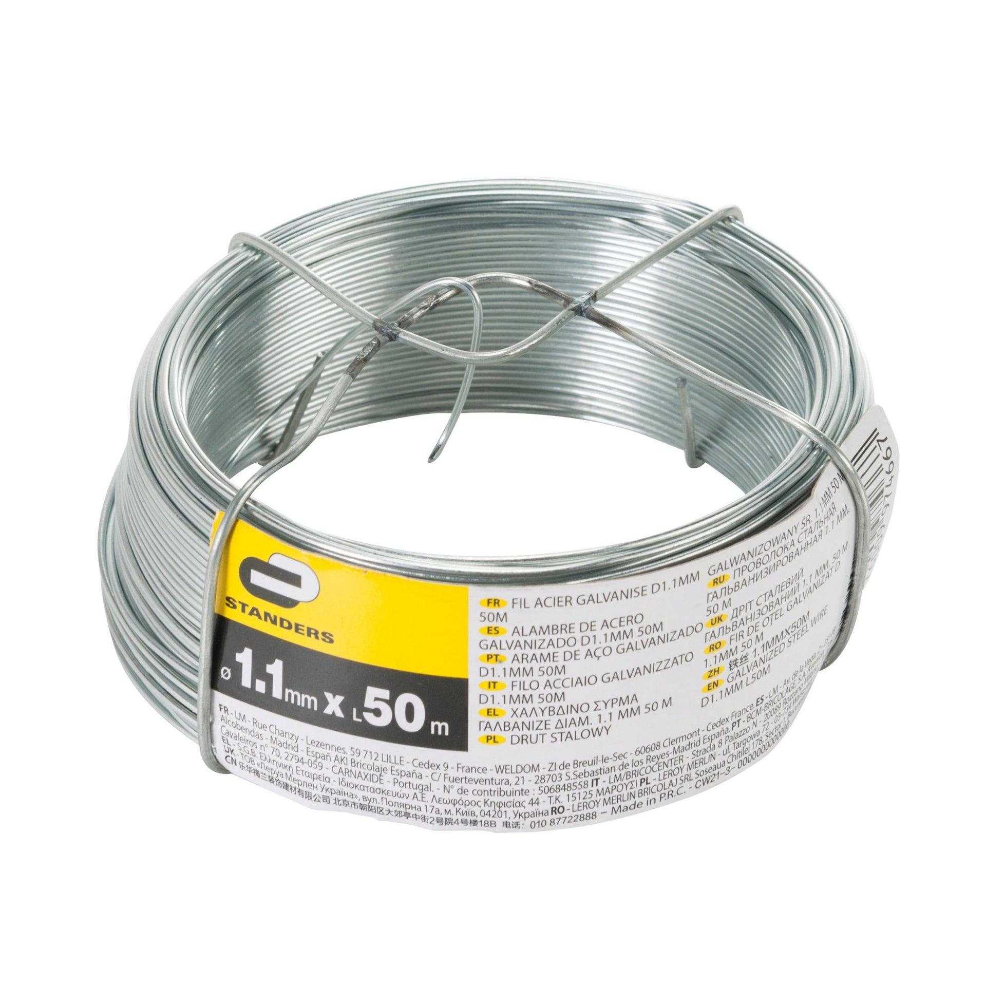 Filo in acciaio STANDERS Ø 1.1 mm x L 50 m - 2