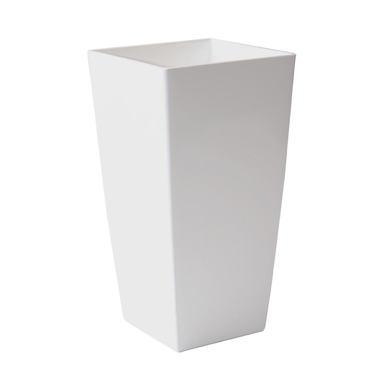 Vaso Piza ARTEVASI in polipropilene colore bianco H 41 cm, L 22 x P 22 cm