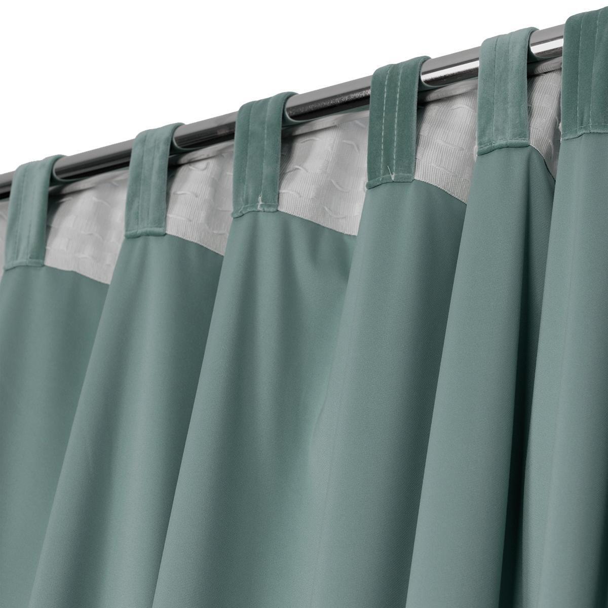 Tenda Misty verde passanti nascosti 135 x 280 cm - 2