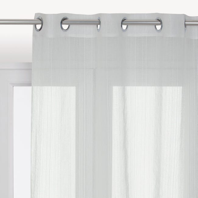Tenda INSPIRE Lolita bianco occhielli 140 x 280 cm - 1