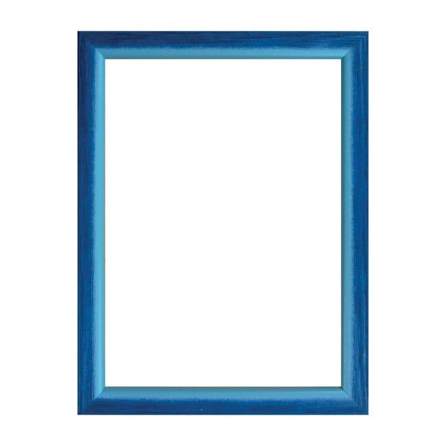 Cornice INSPIRE Bicolor azzurro<multisep/>blu per foto da 40x60 cm - 1