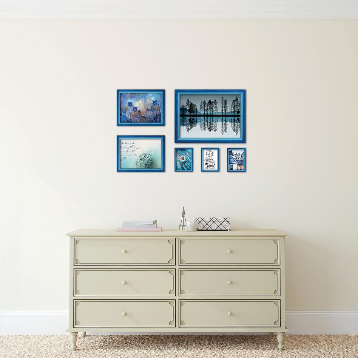Cornice INSPIRE Bicolor azzurro<multisep/>blu per foto da 40x60 cm - 2